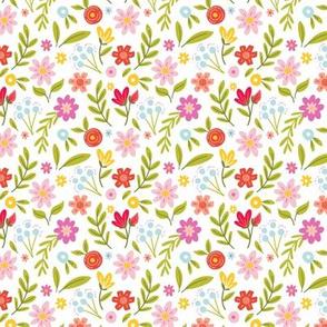 Hello Floral - White