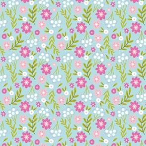 Hello Floral Aqua