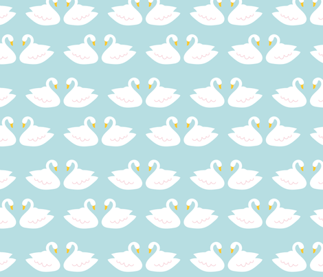Swans in Blue fabric by alexazurcher on Spoonflower - custom fabric