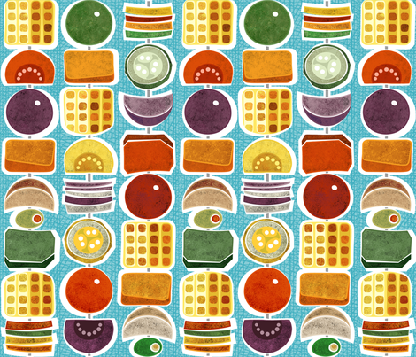 Kebab Stripe 18x18  fabric by stitchyrichie on Spoonflower - custom fabric