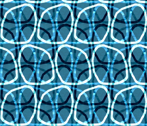 modern blue touch fabric by variable on Spoonflower - custom fabric