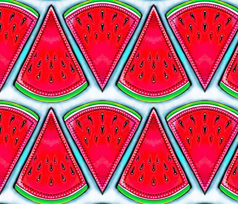 watermelon slices fabric by beesocks on Spoonflower - custom fabric