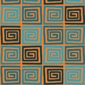 Around the Block - Orange/Blue