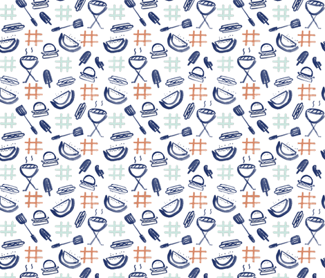 Summer Cookout fabric by anniemontgomery on Spoonflower - custom fabric