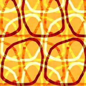 playful lines on orange
