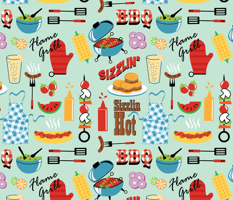 SW126BARBECUE-01 fabric by suzyspellbound on Spoonflower - custom fabric