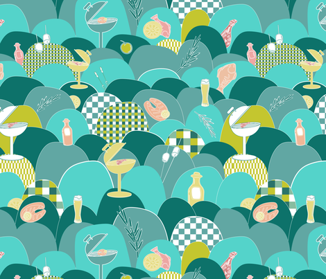BBQ fabric by blijmaker on Spoonflower - custom fabric