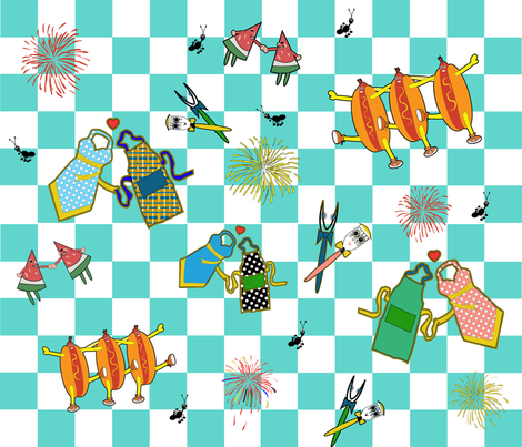 Summer Cookout Celebrations fabric by alohajean on Spoonflower - custom fabric