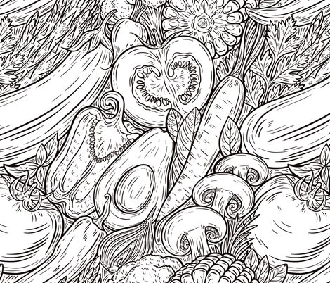 Veggies fabric by ireneart on Spoonflower - custom fabric