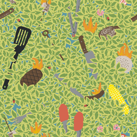 Whoops, I may of slightly over done it.  fabric by ruth_robson on Spoonflower - custom fabric