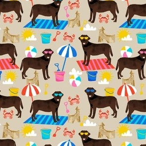 chocolate labrador sandcastle beach dog breed fabric tan