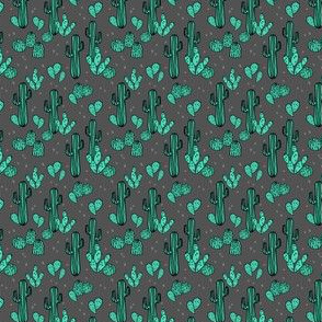cactus // charcoal cactus cacti southwest desert  - smaller