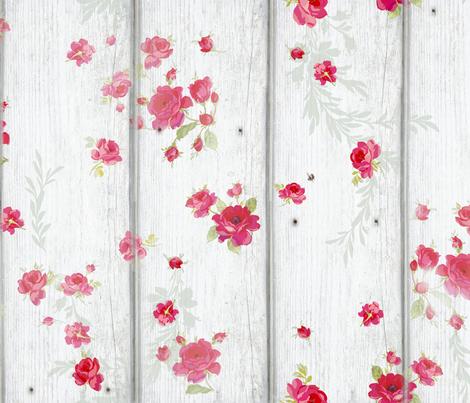 Wild Rose Farm fabric by lilyoake on Spoonflower - custom fabric