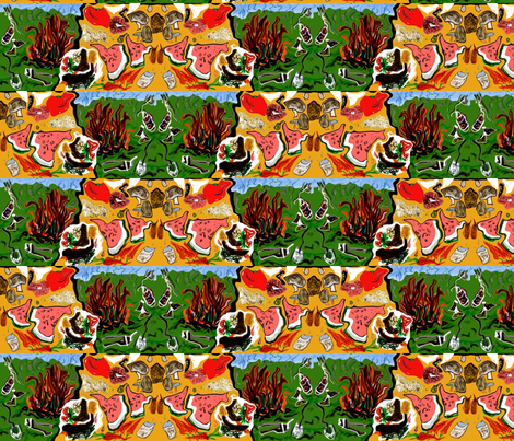 Dali Vegetarian Summer cookup- fabric by cloudsong_art on Spoonflower - custom fabric
