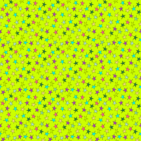 garden stars on green background fabric by betz on Spoonflower - custom fabric