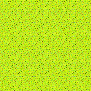garden stars on green background