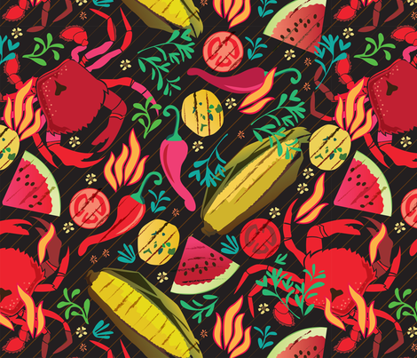 Grilled fabric by camcreative on Spoonflower - custom fabric