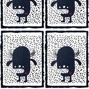 Monochrome monster