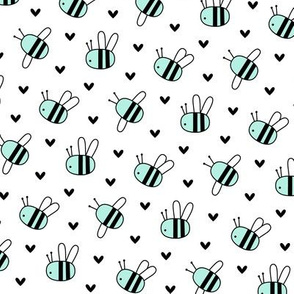 bumblebees mint on white