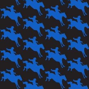 Cowboy Bronco Riders Black & Blue