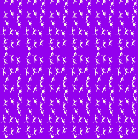 Sociable_Hound_Pack-Sand_On_Purple-V fabric by cloudsong_art on Spoonflower - custom fabric