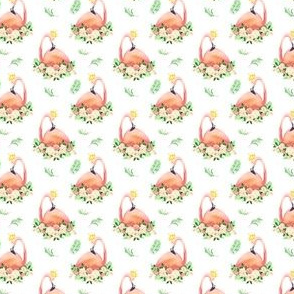 "1.5"" Floral Flamingo Free Falling Floral"