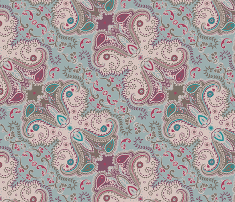 Boho fabric by susanna_nousiainen on Spoonflower - custom fabric