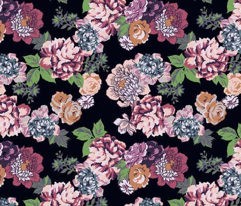 Summer flowers fabric by susanna_nousiainen on Spoonflower - custom fabric