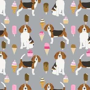 beagle ice cream dog breed fabric summer dessert food grey
