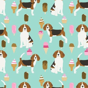 beagle ice cream dog breed fabric summer dessert food mint