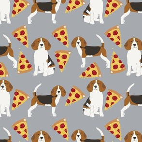 beagle pizza dog breed fabric food grey