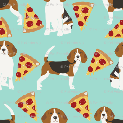 beagle pizza dog breed fabric food mint