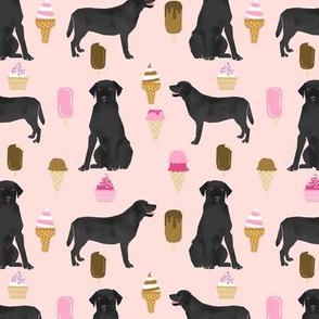 black labrador ice cream dog breed fabric summer dessert food black lab pink