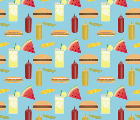 backyard cookout pattern-01 fabric by phein on Spoonflower - custom fabric