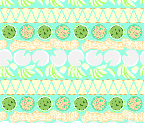 Summer Cookout Block fabric by kittenmoonstudio on Spoonflower - custom fabric