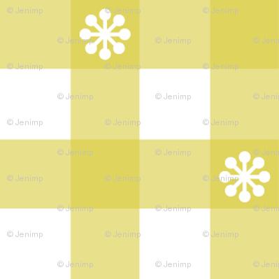 Gingham - Mustard Daisies