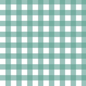 Gingham - Aqua Plain & Simple