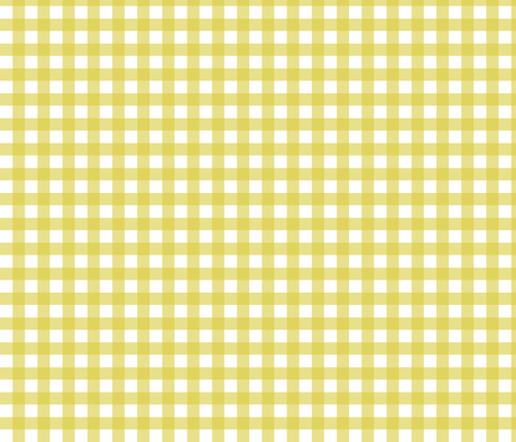 Gingham - Mustard Plain & Simple fabric by lellobird on Spoonflower - custom fabric