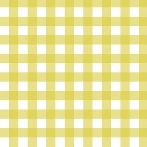 Gingham - Mustard Plain & Simple