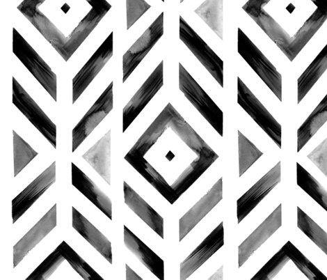 Tribal_geometric_blacksilverwhite_fatquarter_shop_preview