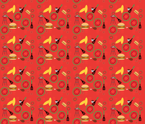 Picnic On The Red Planet fabric by flower_wall on Spoonflower - custom fabric
