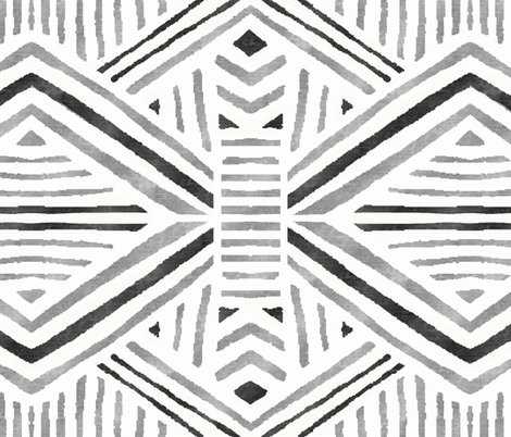 Rtribal_geometric_blacksilverwhite_fatquarter_shop_preview