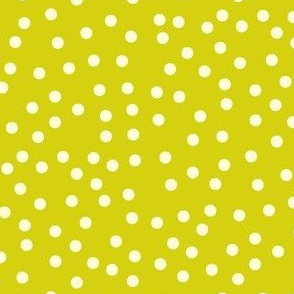 Twinkling Creamy Dots on Bush Lemon - Large Scale