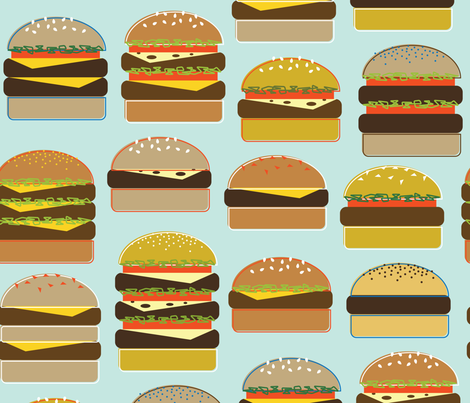 Hamburgers! fabric by katerhees on Spoonflower - custom fabric