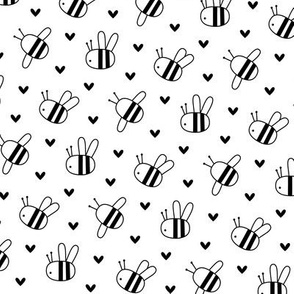 bumblebees black and white