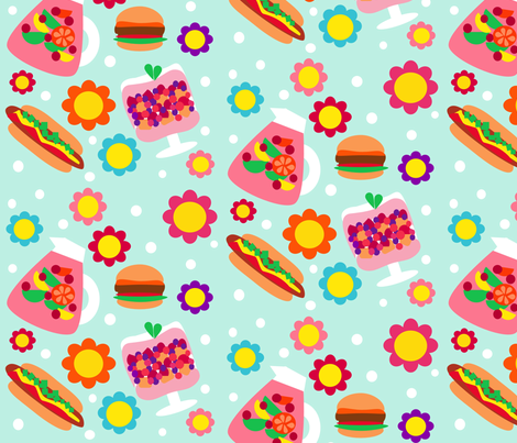 Summer and Sangria fabric by dnbmama on Spoonflower - custom fabric