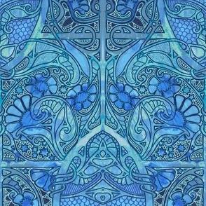 Dragon Scale Garden Blues