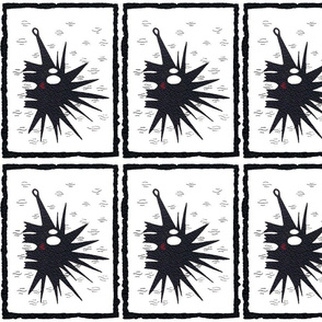 monochrome hedgehog