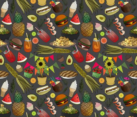 Summer Yum Yum's fabric by irishvikingdesigns on Spoonflower - custom fabric