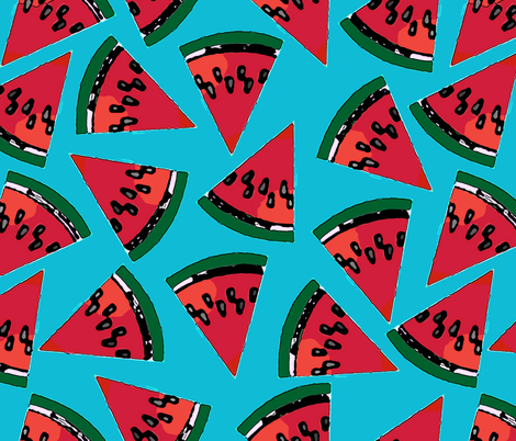 Watermelon Slices fabric by fanciful_whimsy on Spoonflower - custom fabric